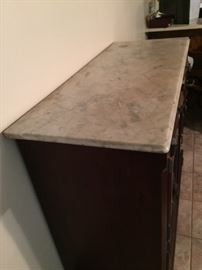 """Fish & Fowl"" sideboard marble top"