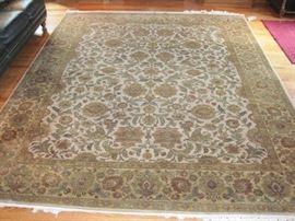 """Hand made rug 8' 2"""" x 10' 1""""."""