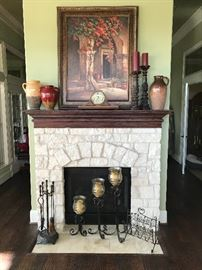 Howard Miller Mantel Clock , Sidney Sinclair Numbered Art, Various Decor from Pier One and Southern Living.