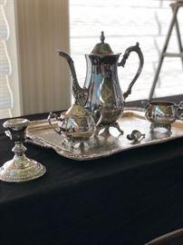 Silver Tea Service Set - Oneida