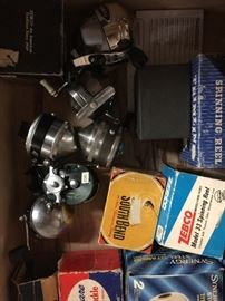 Some vintage reels with boxes
