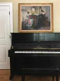 Marguerite S. Pearson Oil, Yamaha Upright Piano Serial # 6006485