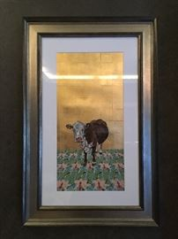 Original Art with 24k Gold Leaf from Xima Lee Hulings