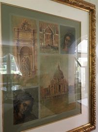Armand M. Signed and Numbered Print, 216/300, of two Portraits and Scenes of Venice, Italy