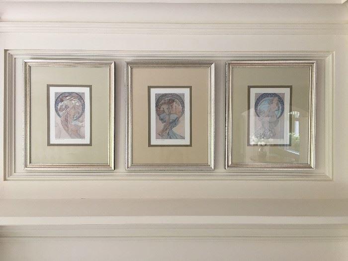 Three Alphonse Much Prints