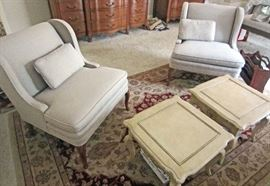 Quality lounging/parlor chairs and tables