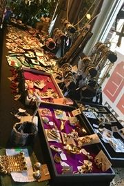 Lots of great pieces of costume jewelry.