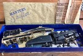 """Vintage MANTUA'S """"SHIFTER"""" and the BUCYRUS & ERIE CRANE CAR (Made prior to Tyco)"""