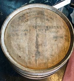 JACK DANIELS WHISKY BARREL, lid stamped Jan 22, 1968