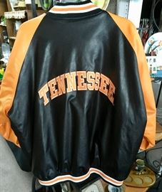 Back of TN VOLS men's jacket.