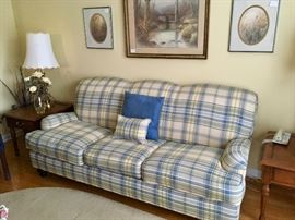 Super nice plaid sofa