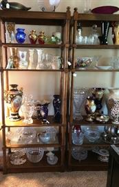 Matching display stands full of Crystal, Venetian Glass, more
