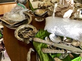 Other fine sterling flatware and holloware.