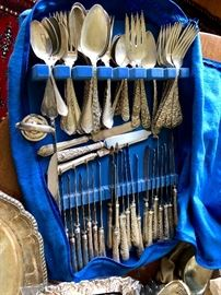 Large set of Kirk Repousse Sterling