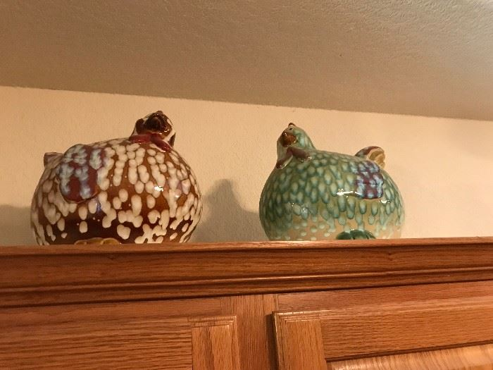 Pottery Chickens