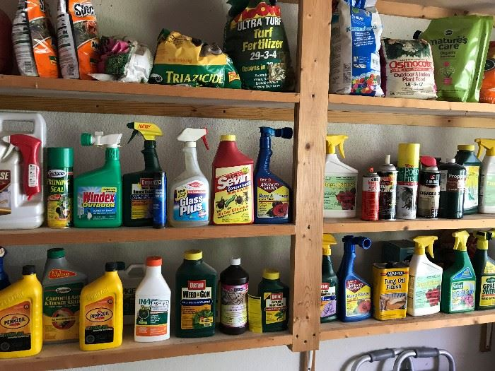 Lots of Yard Chemicals