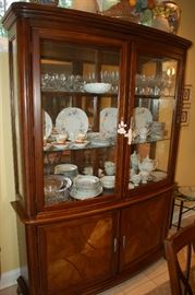 Hecho brown cherry china cabinet