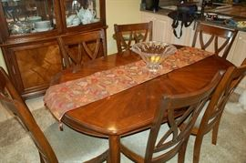 Hecho brown cherry dining table