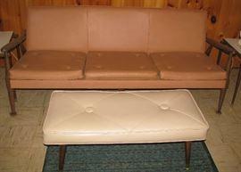 Mid century sofa, bench