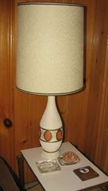Mid century modern lamp, table