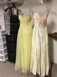 A sample of vintage gowns available.