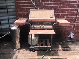 Vintage propane grill
