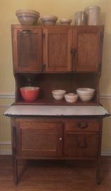 Primitive Hoosier style baker's cabinet