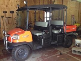 "2012 ""Like new"" Kubota Utility Vehicle, seats 5 —RTV 1140 CPX model (64 hrs. use)"