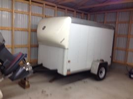 1995 Wells Fargo Cargo trailer (new tires) 8x5x5 Good Condition (was stored)