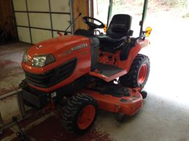 2009 Kubota diesel lawn Tractor with snow blower -- next photo.