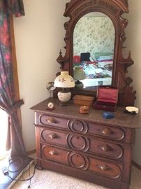 Antique marble top dressing table