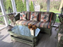 Wicker porch furniture...beautiful, great shape