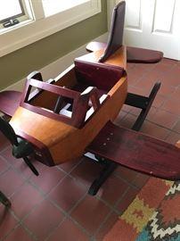 Stunning wooden airplane