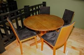 "Skovby Round 47"" TEAK Table and 4 r Chairs"