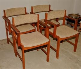 4 DANISH STYLE ARM CHAIRS