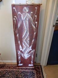BUY IT NOW $350.00 Aboriginal Art by James Iyuna, from Memeka Australia, done on stringy board, size is 4 feet by 18 inches wide. signed and dated on the back as an original from the artist.  dates August 1991,