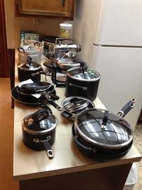 T-Fal and Circulon Pots & Pans, Blender, Waffle Maker, Cuisinart Food Processor; and Farberware Crockpot