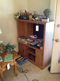 Sauder-Style Entertainment Unit; CDs, VHS Tapes, DVDs, Cassettes, Home Decor