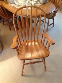 Oak Chair for Dining Table - Two Captains and Two Without Arms