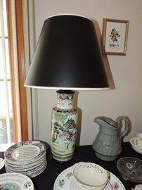 Chinese painted lamp