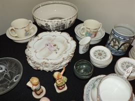 Tables of China and glassware to choose from...still sorting ...