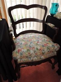 """Country French Style Armchair with """"flame-stitch"""" type seat !"""