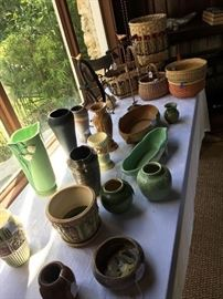 Large selection of signed pottery