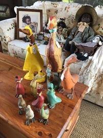 BIG selection of wooden ducks