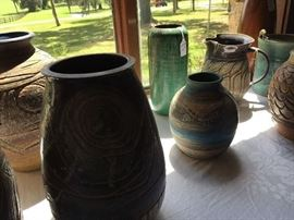 Large selection of Charles Counts Pottery