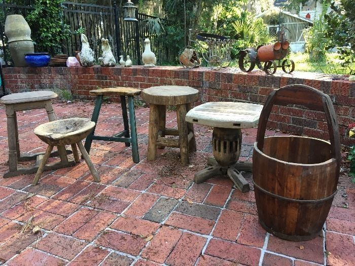 "Selection of ""primitive "" furniture"