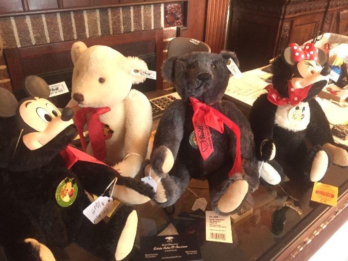 Steiff bears next to cashier