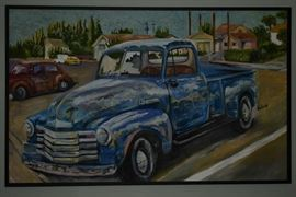 Original -  Framed 1953 Chevy by Wells '04'