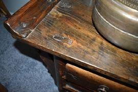 Close up of Handmade Wood Alter Dowels