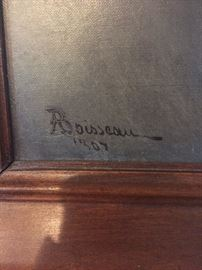 Signed A(lfred) Boisseau dated 186(4)?